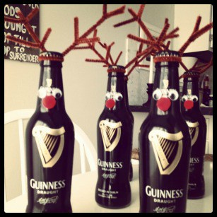 Guinness Beer Reindeer Tutorial