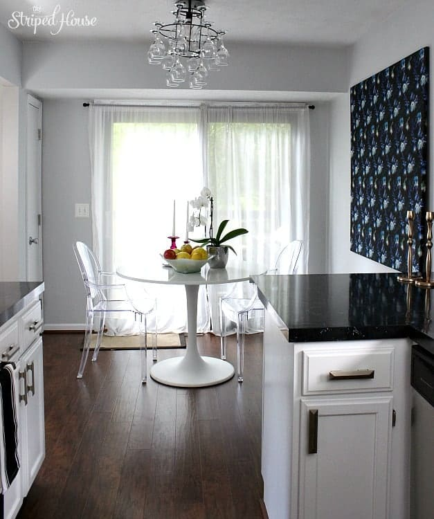 classic contemporary black white kitchen tour
