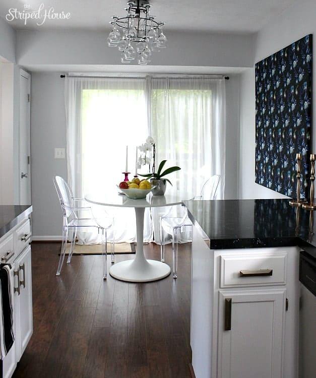 classic contemporary black white kitchen tour