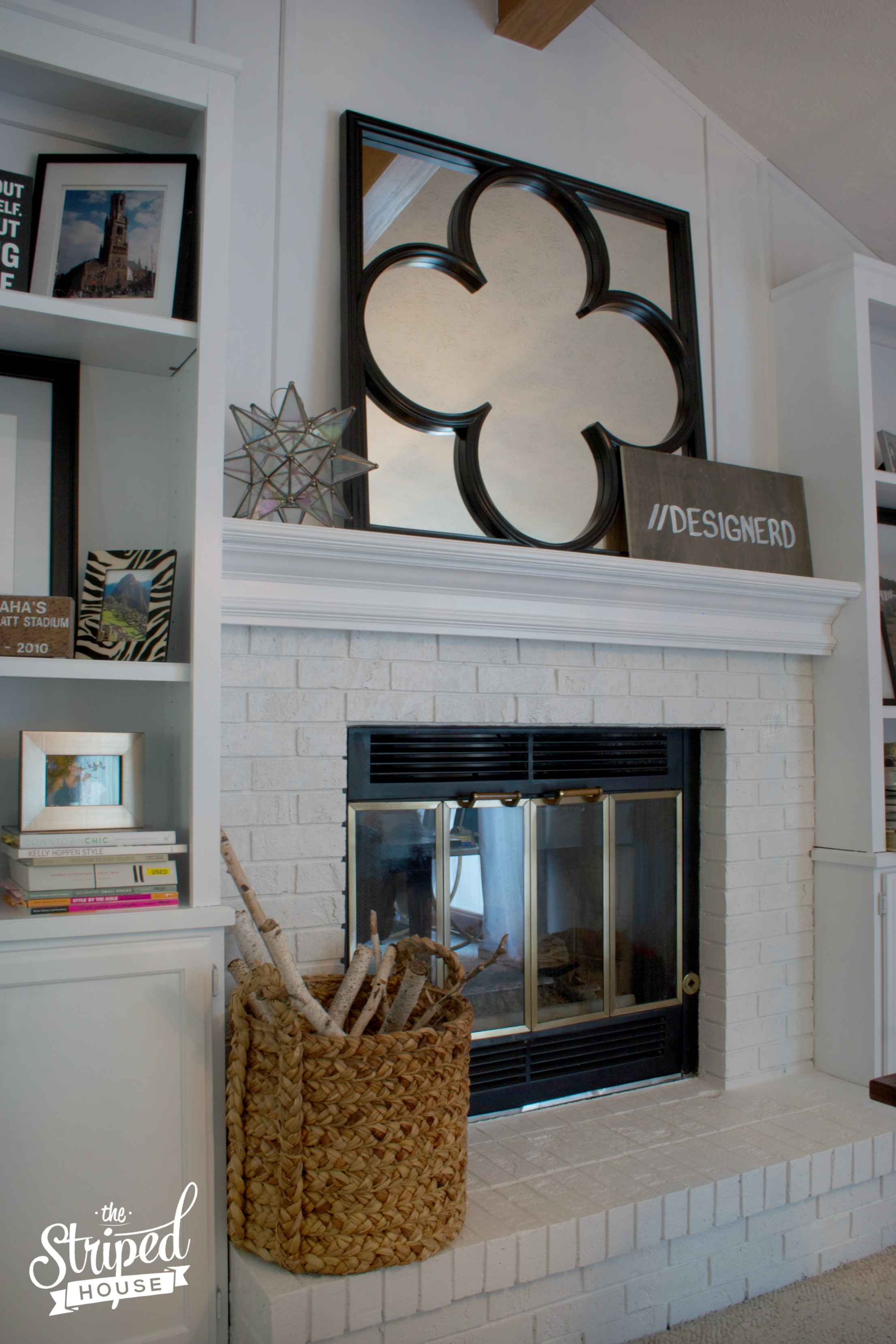 Fireplace & built-ins makeover: How I transformed outdated wood bookcases