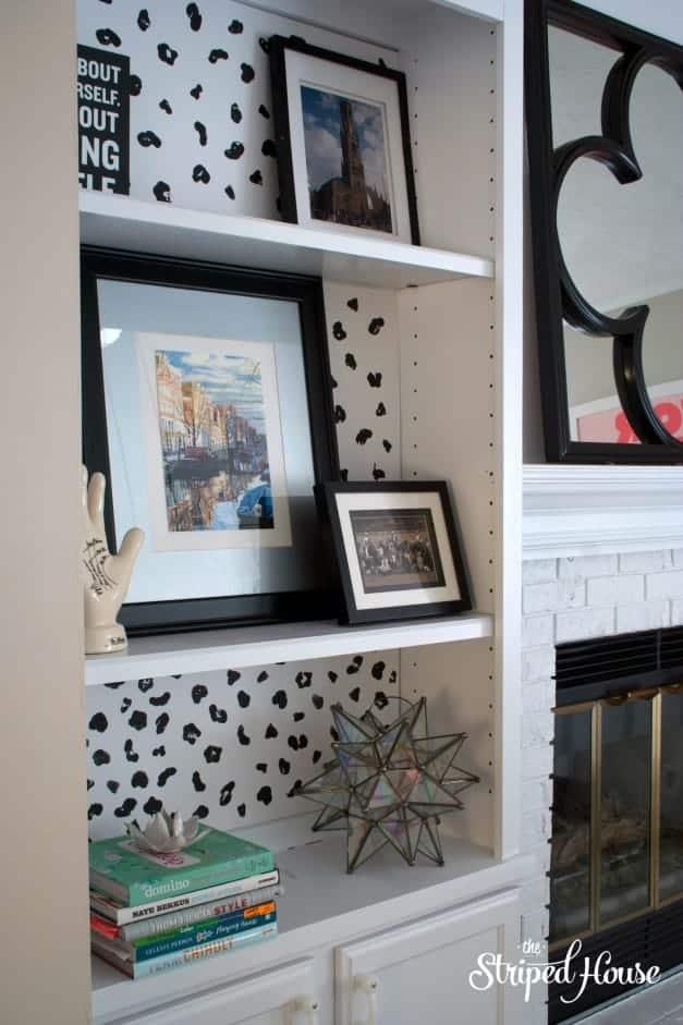 DIY Animal Print Bookcase Background 4