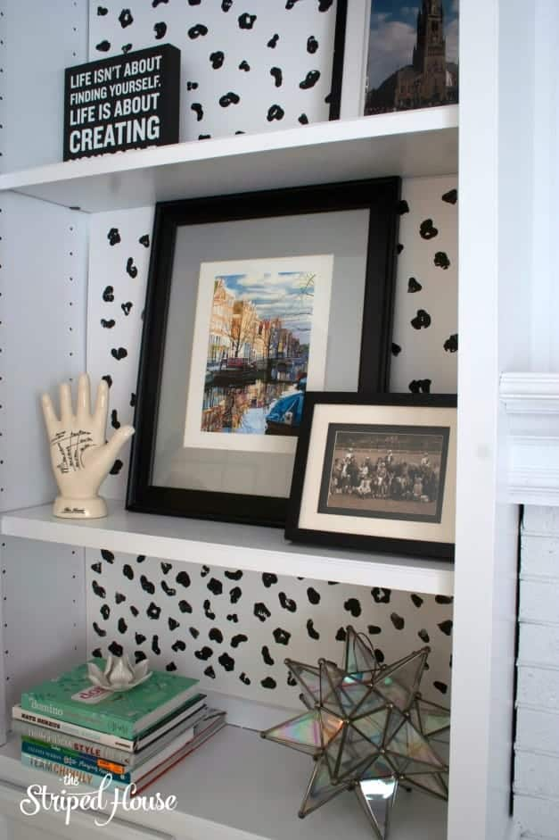 DIY Animal Print Bookcase Background 6