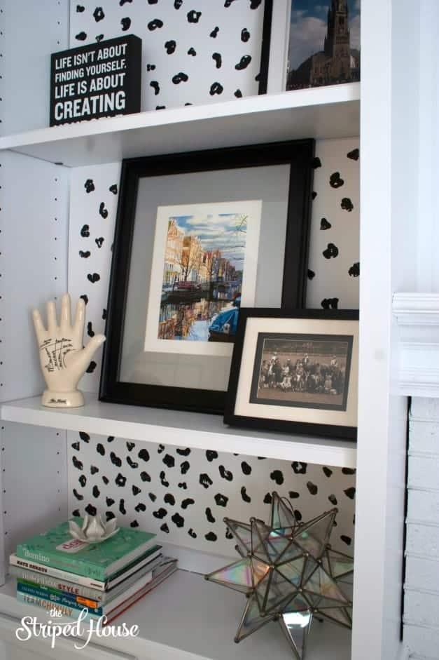 DIY Animal Print Bookcase Background 6