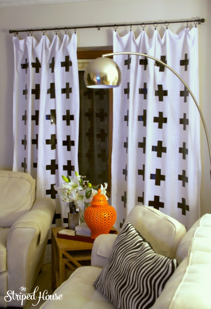 Duck Tape Cross Curtains 1