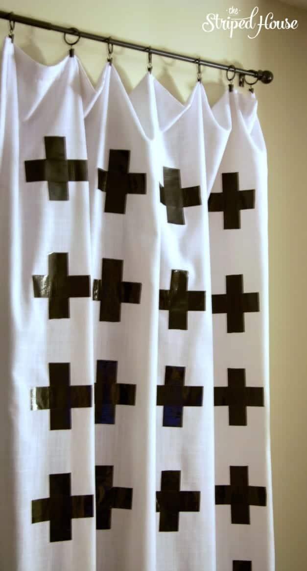 Duck Tape Cross Curtains 3