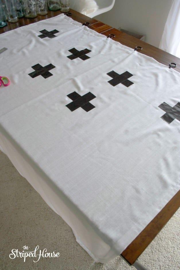 Duck Tape Cross Curtains 4