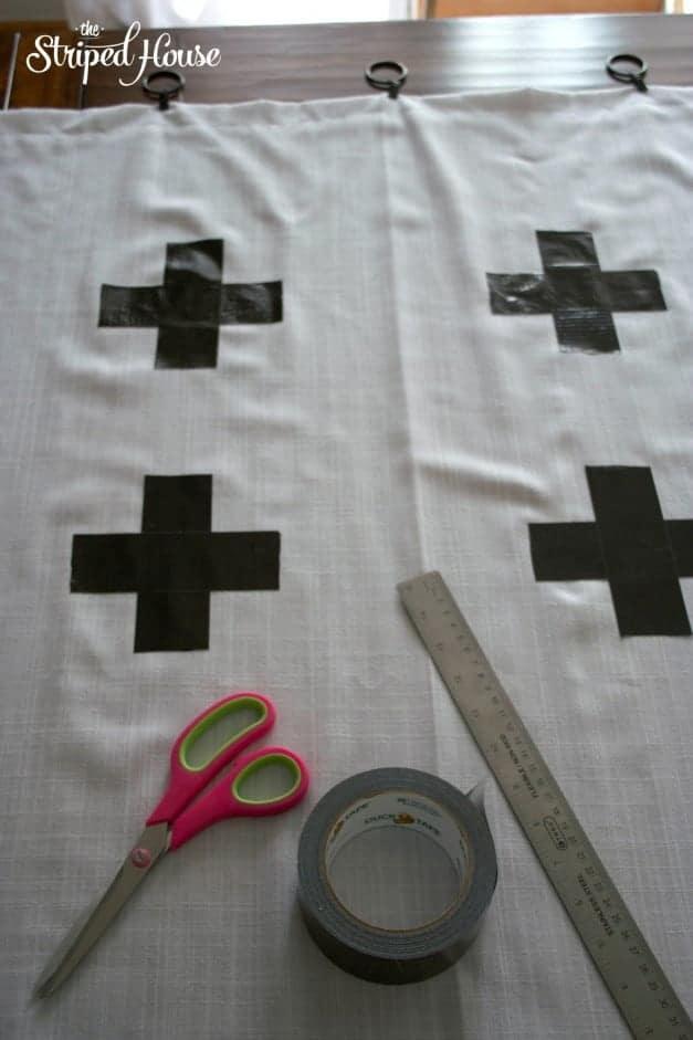 Duck Tape Cross Curtains 5