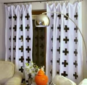 Duck Tape Cross Curtain Tutorial