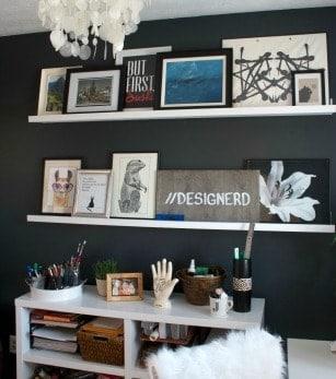 DIY Floating Gallery Shelves