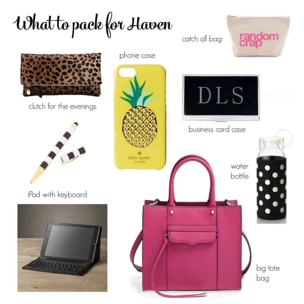 What to pack for Haven - The Striped House