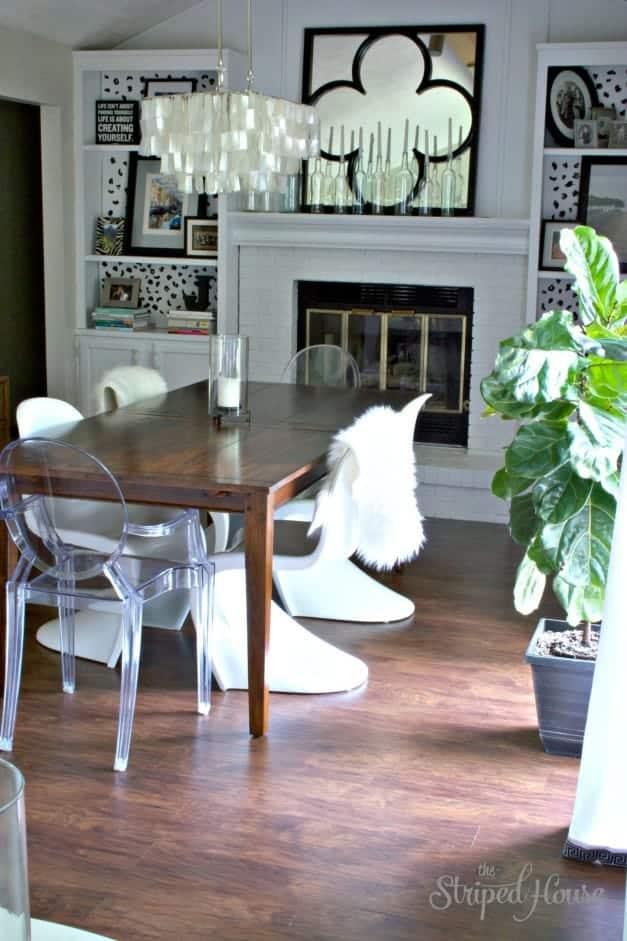 Dining Room Wood Floor Makeover 1