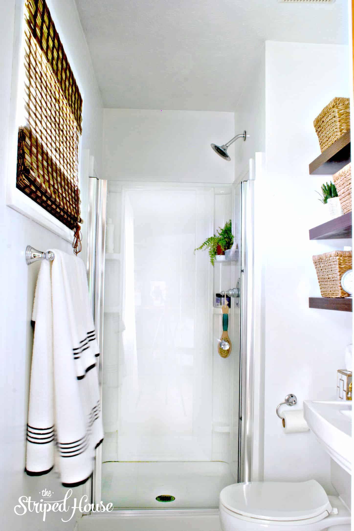 Master Bathroom Makeover - The Striped House