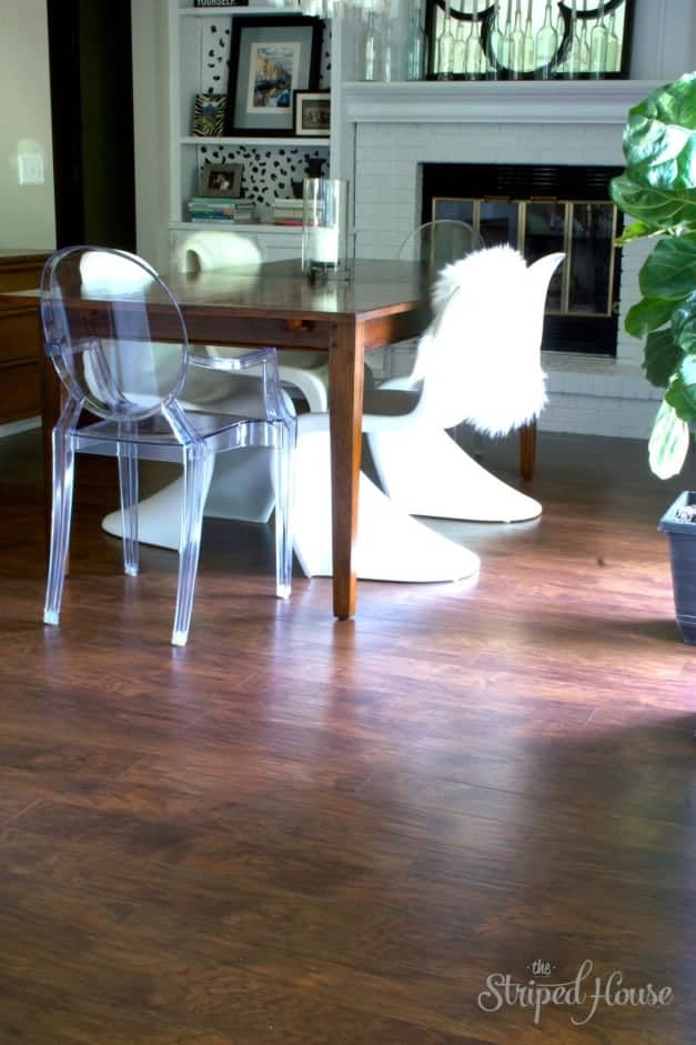 The Striped House - Dining Room Wood Makeover 2 -