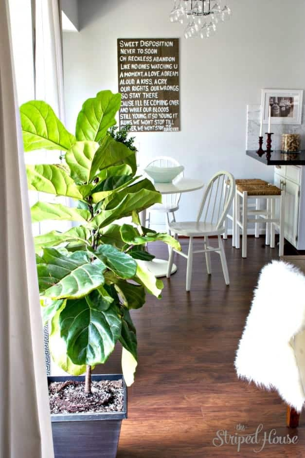 The Striped House - Dining Room Wood Makeover 3