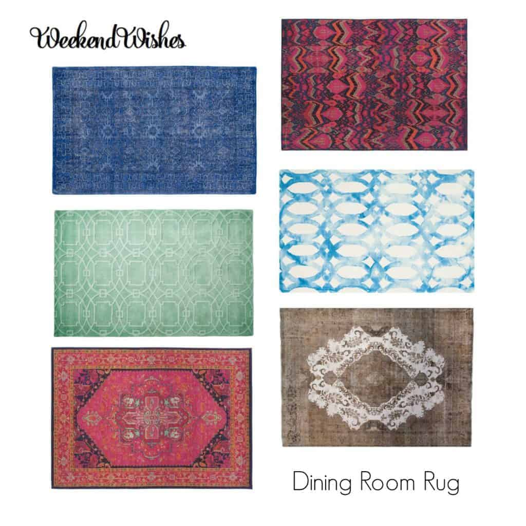 Weekend Wishes - Dining Room Rugs The Striped House