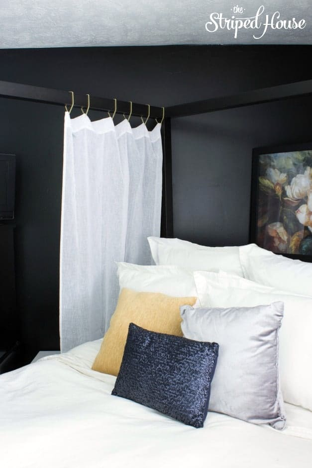 The Striped House - Hanging Drapes with Gold Chain 2