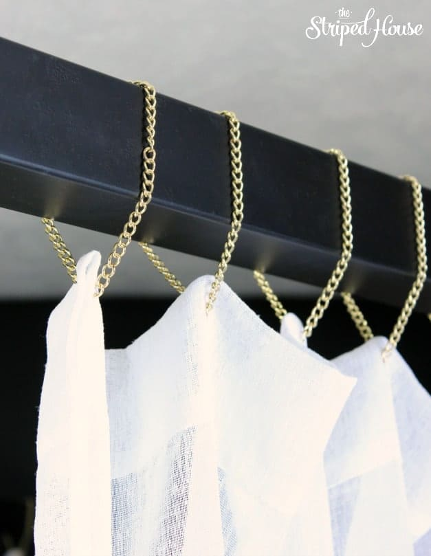 The Striped House - Hanging Drapes with Gold Chain