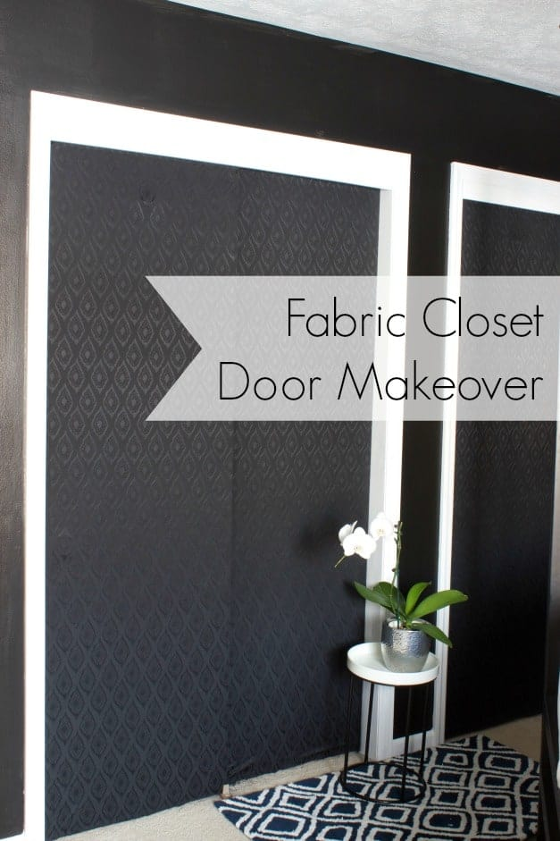 a great way to makeover closet doors when you donu0027t want to use paint & CLOSET DOOR MAKEOVER WITH FABRIC - The Striped House