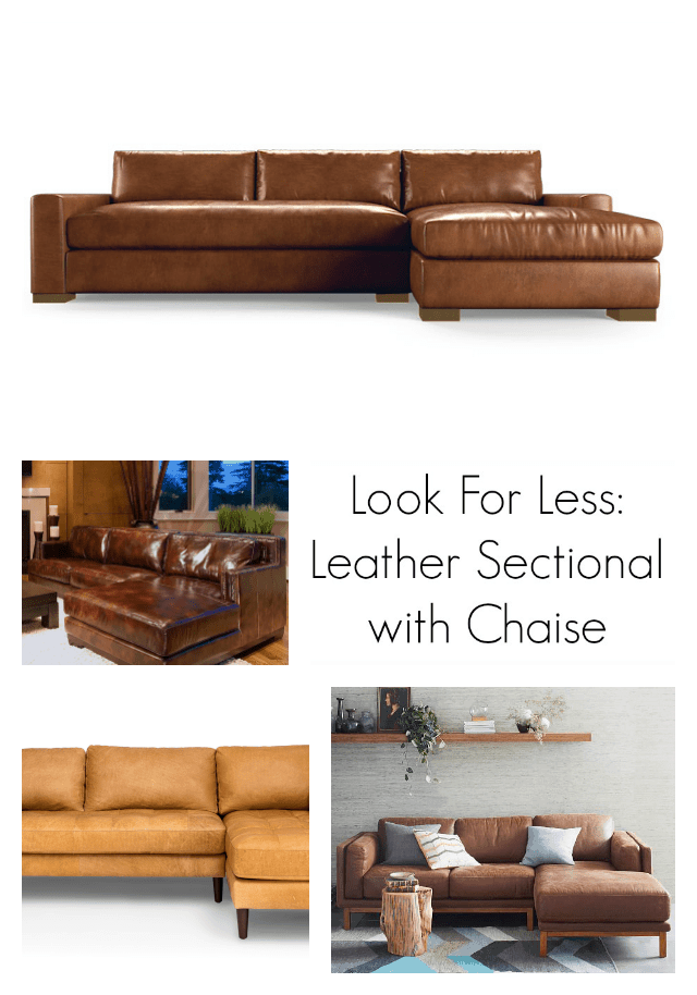 Look for Less - Leather Sectional with Chaise