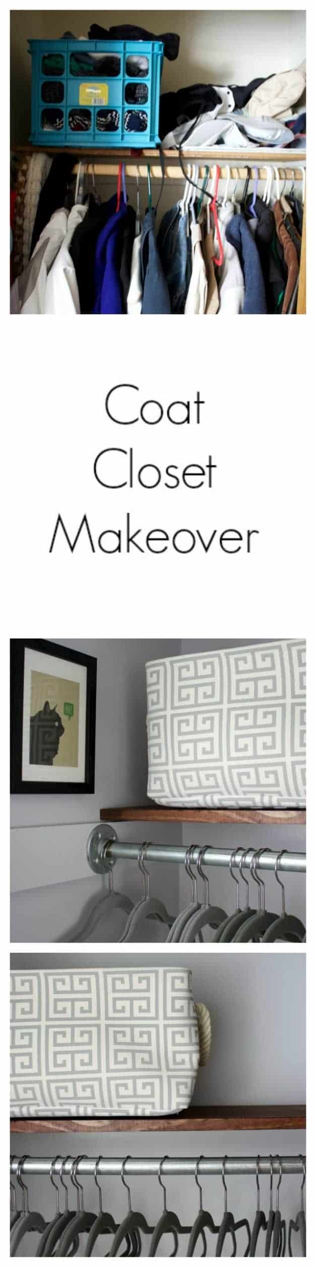 See my new coat closet makeover and how I gave it more updated look. It was so dreary before, and now it's a pretty place to look each time I open the door.