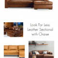 The Striped House - Look for Less Leather Sectional
