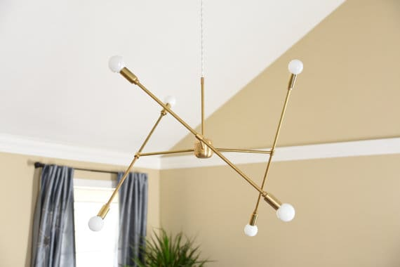 The Striped House - Sputnik Chandelier 4