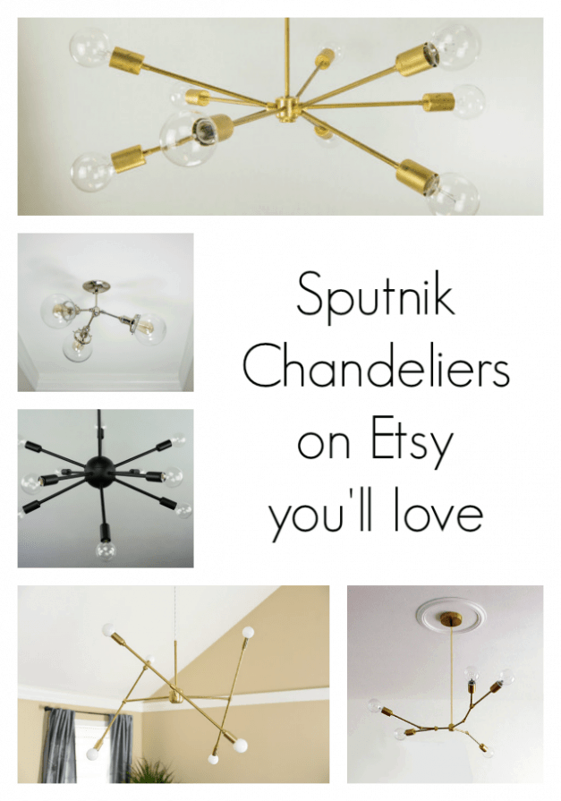 The Striped House - Sputnik Chandeliers