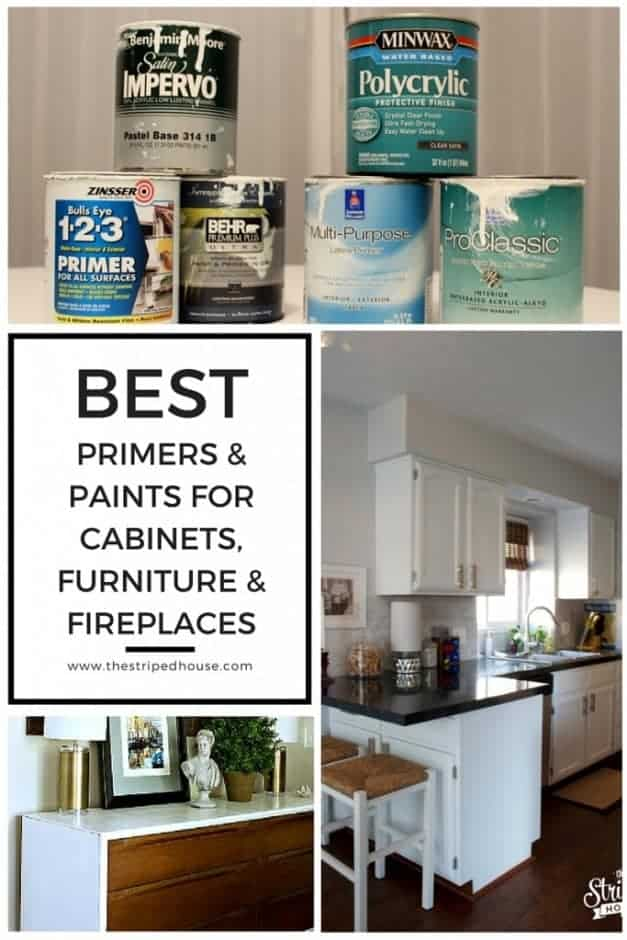 Best primers paints for cabinets furniture fireplaces for Can you paint non wood kitchen cabinets