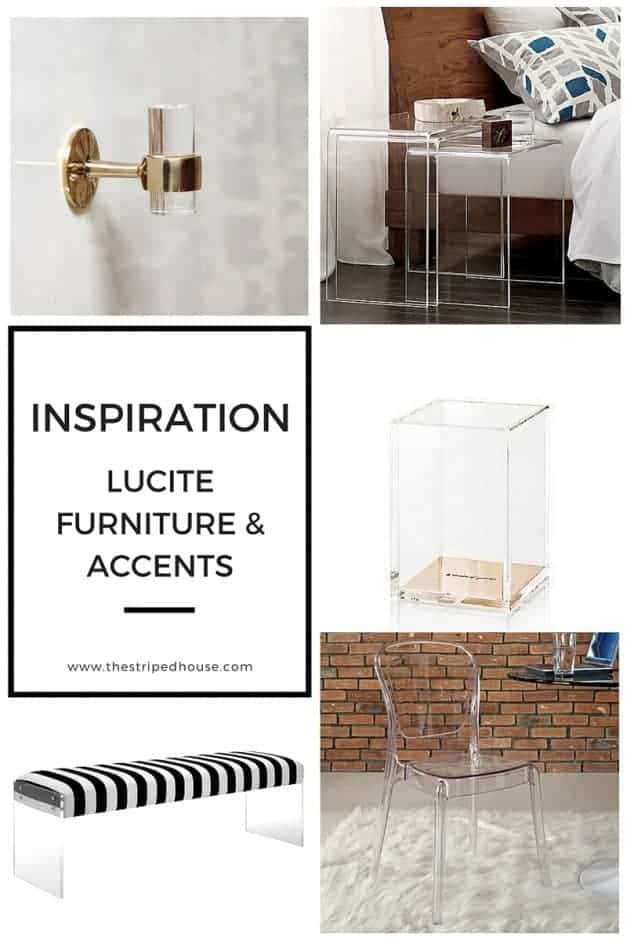 The Striped House - Lucite Furniture & Accents