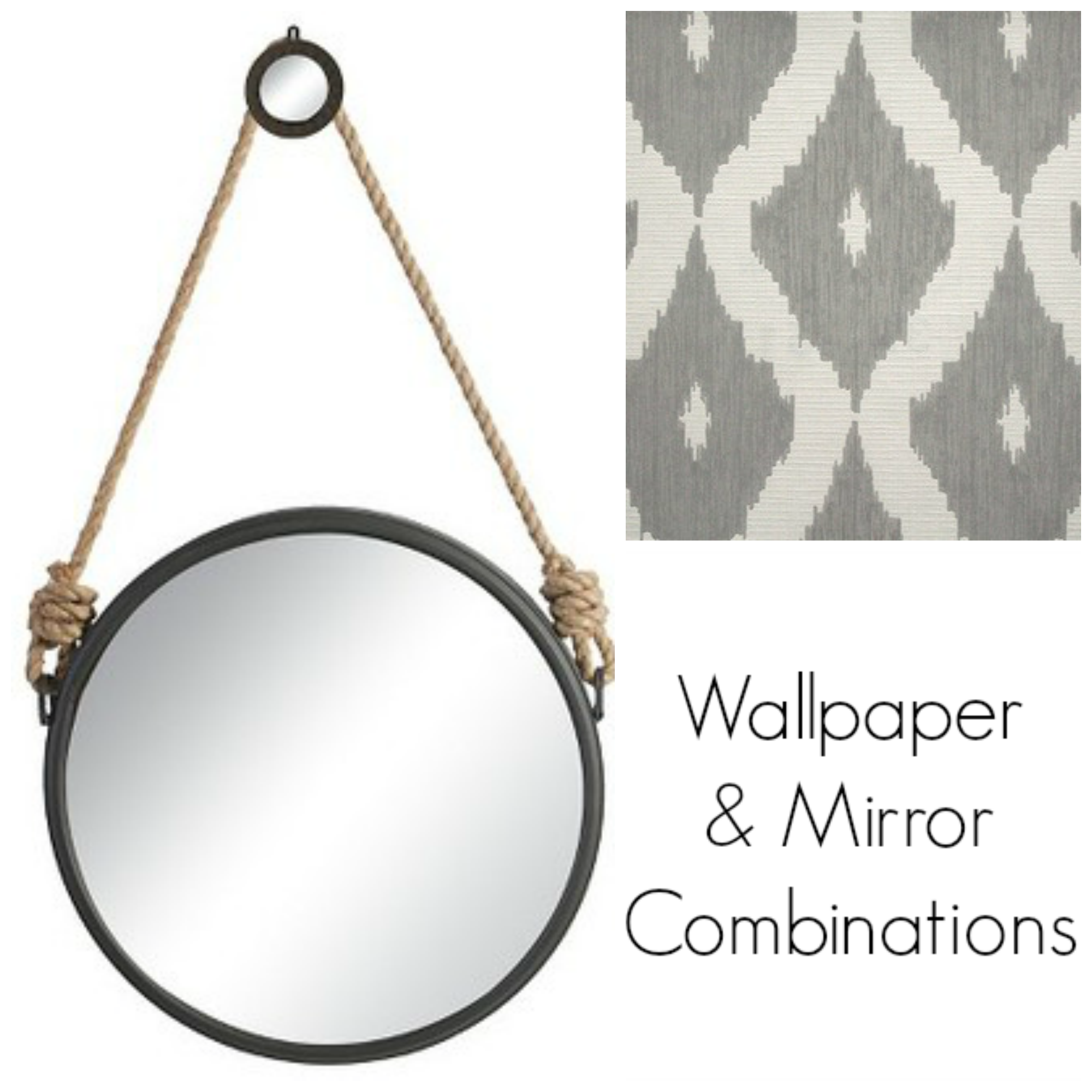 Couples mirrors wallpaper the striped house for Mirror wallpaper
