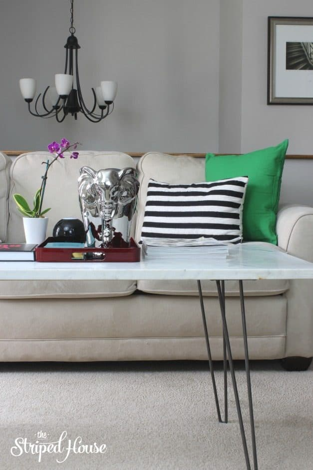 The Striped House Marble Coffee Table turtorial