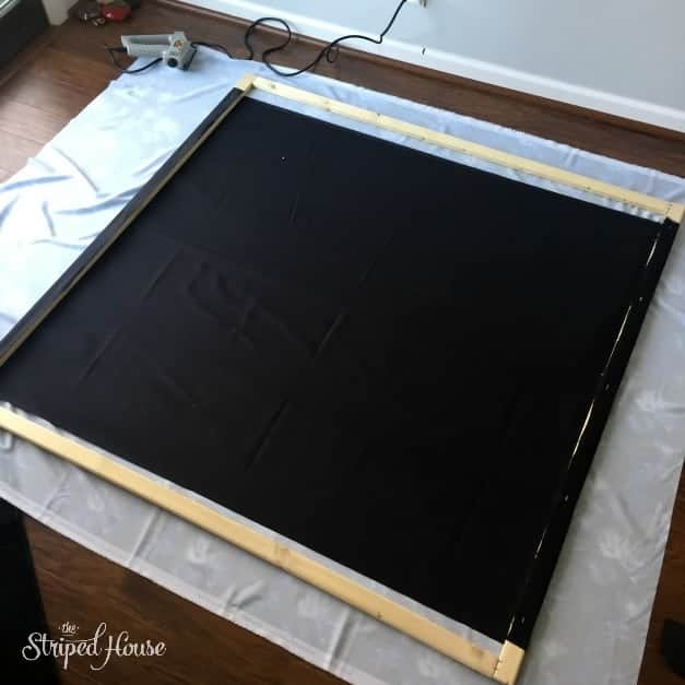 bold diy fabric art building frame