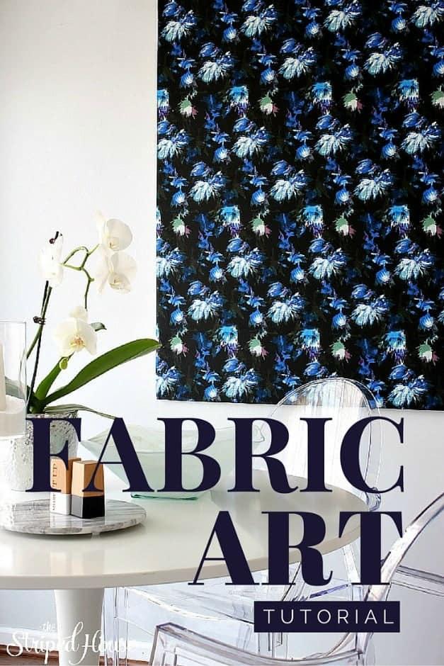 custom fabric art diy The Striped House