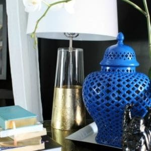 GOLD FOIL & SPRAY PAINT NIGHTSTAND MINI MAKEOVER