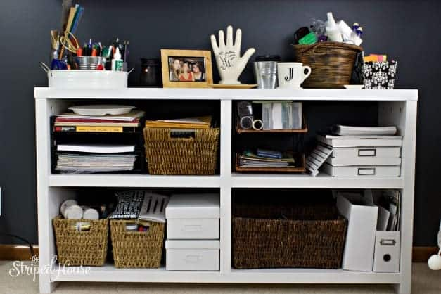 office tour black and white credenza the striped house office tour
