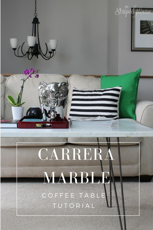 DIY Carrera Marble Coffee Table