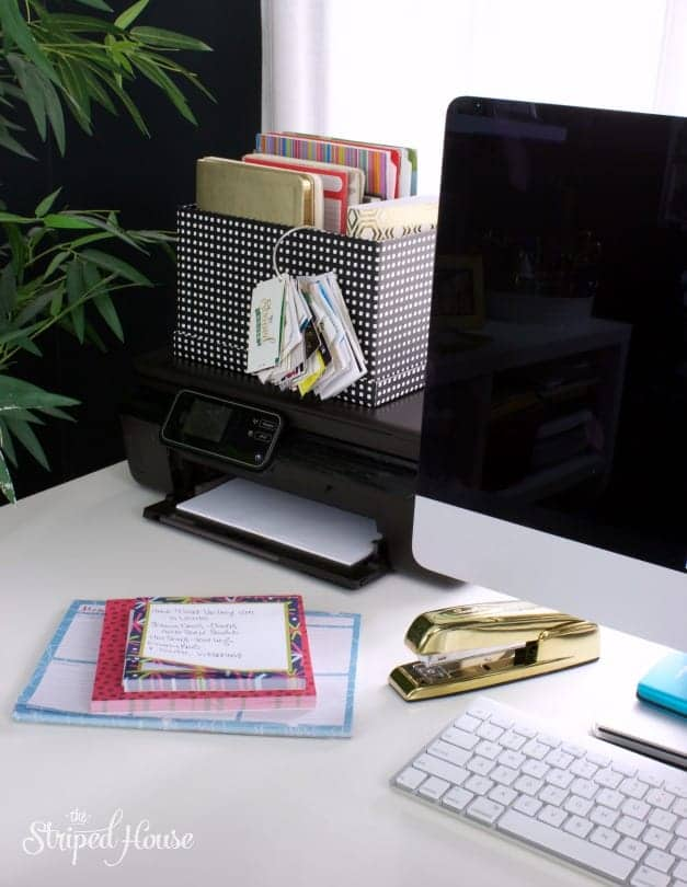 white desk office tour black and white the striped house