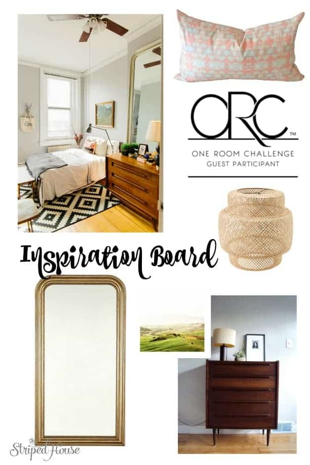 Guest Bedroom Makeover One Room Challenge Week 1: the plans, inspiration, and ideas for room combined of vintage and contemporary elements.