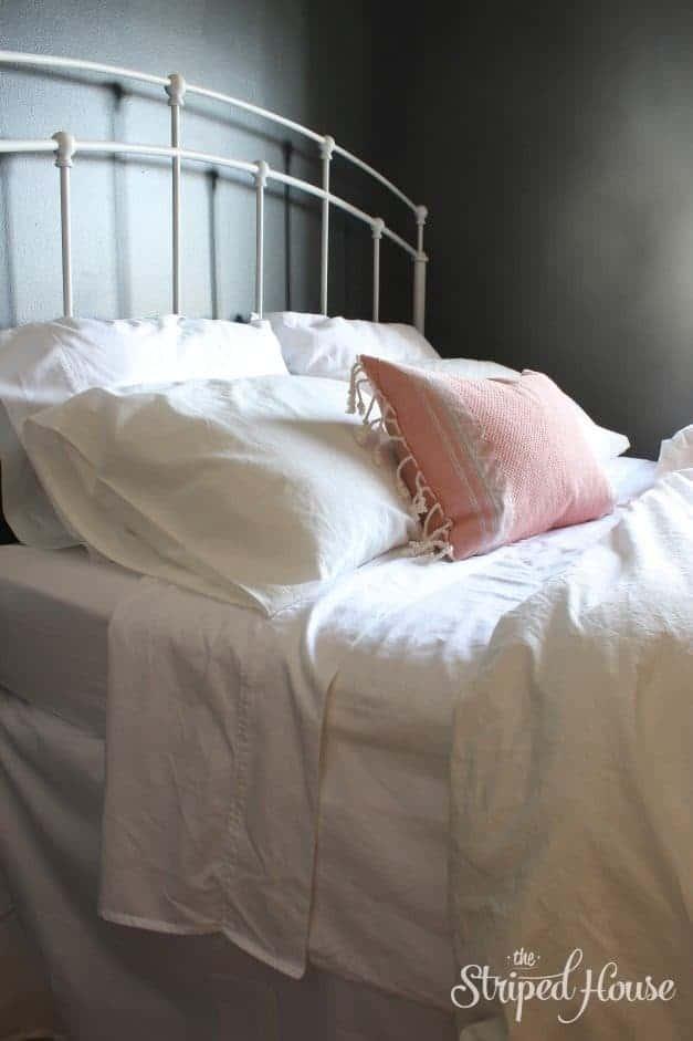 black white bedroom bedding the striped house
