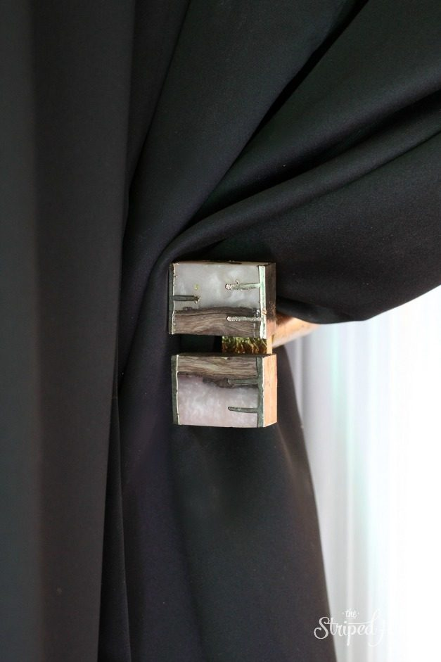 black gold curtain tie back hack