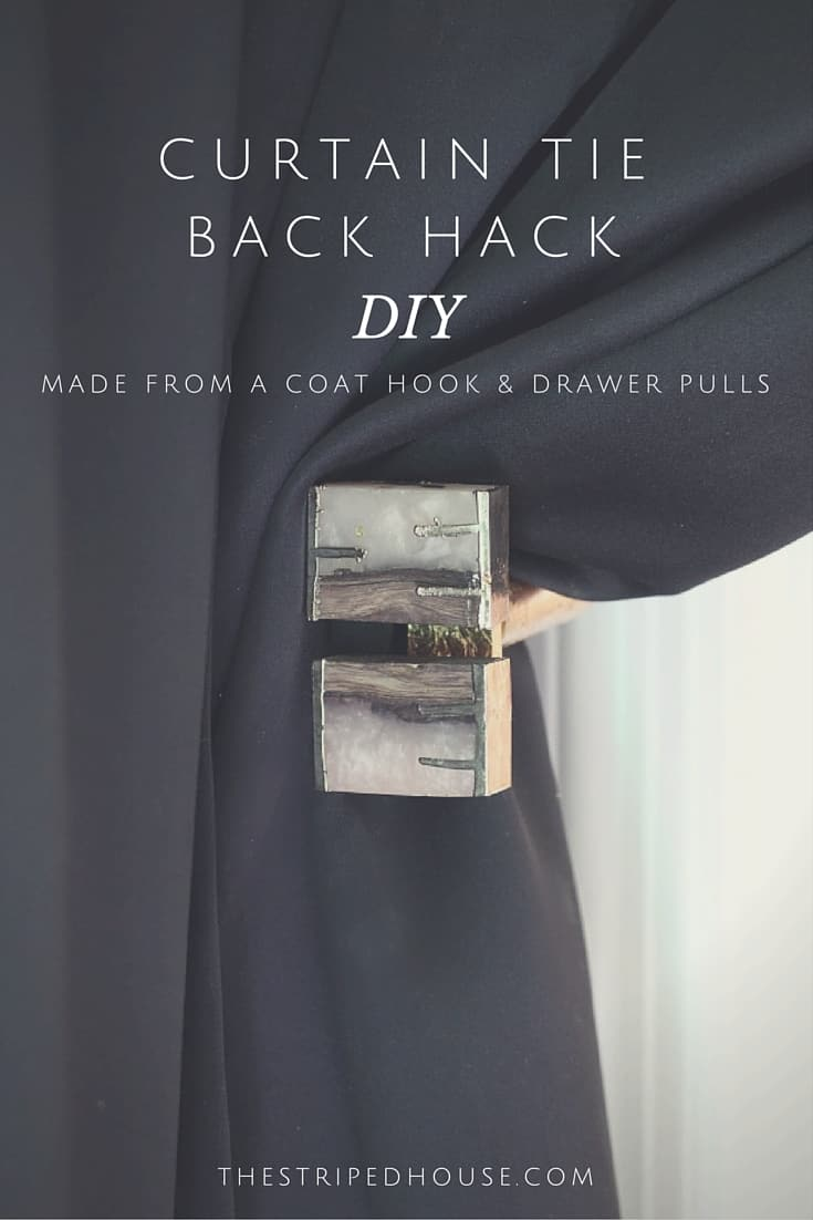 Curtain Door Tie Back Hack The Striped House