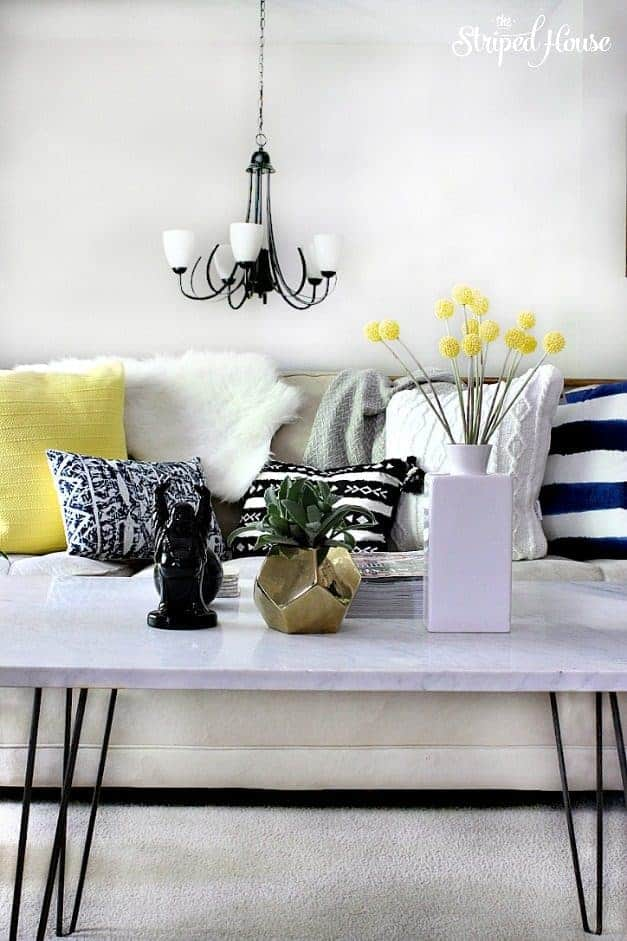 living room eclectic summer home tour the striped house