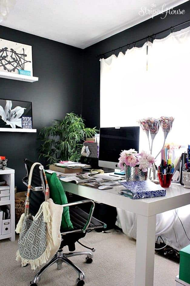 office summer eclectic home tour