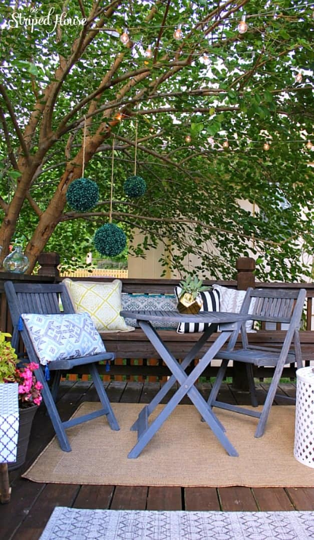 garden party tree deck patio tour The Striped House