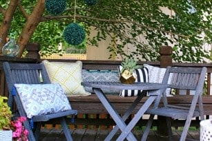 PATIO TOUR: BACKYARD TREE DECK