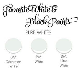 FAVORITE BLACK AND WHITE PAINTS