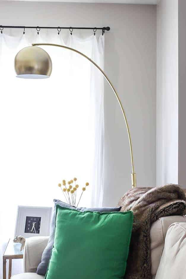 gold-arc-lamp-living-room-spray-paint