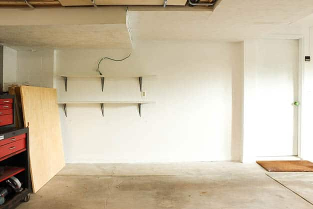 garage-makeover-shelving-primed-one-room-challenge-the-striped-house