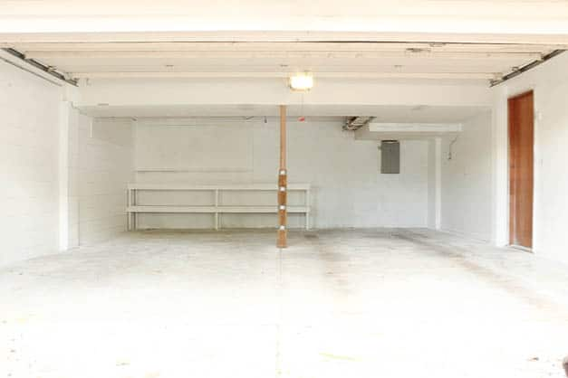 garage-makeover-white-painted-walls-full-view