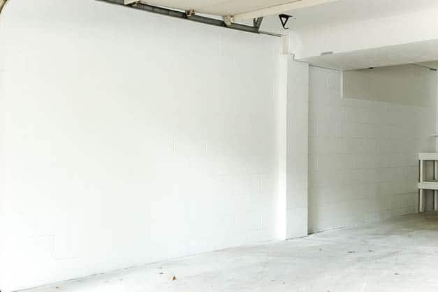 garage-makeover-white-painted-walls-left-wall
